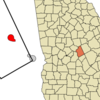 Location In Twiggs County And The State Of Georgia