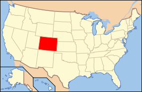 Location Of Colorado In The United States