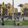 Looking South Across Plaza De Armas