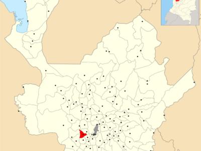 Location Of Armenia Within Antioquia Department