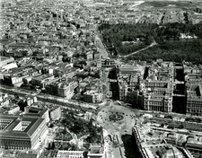 Madrid Plaza De Cibeles - Aerial View