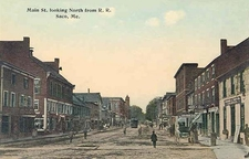 Main St . Looking North From R . R . Saco