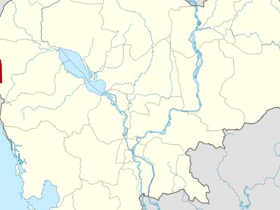 Map Of Cambodia Highlighting Pailin
