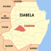 Map Of Isabela Showing The Location Of Cauayan City.