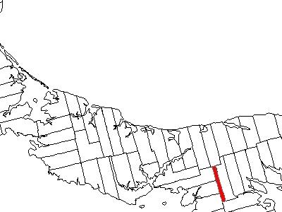 Map Of Prince Edward Island Highlighting Lot 66
