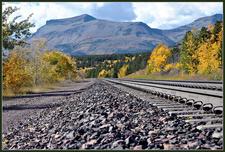 Marias Pass Railroad - Glacier - USA