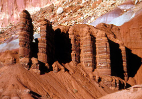 Moenkopi/Chinle Formations Along Scenic Drive - Capitol Reef - U
