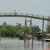 Narrow Bridge Over Canal On The Island Of An Binh