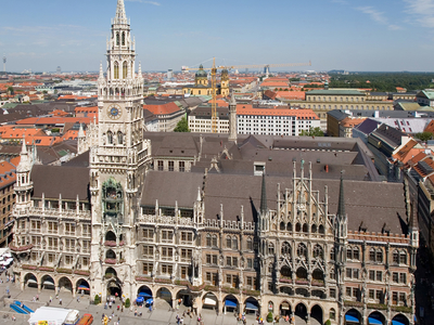 The New Town Hall And Marienplatz