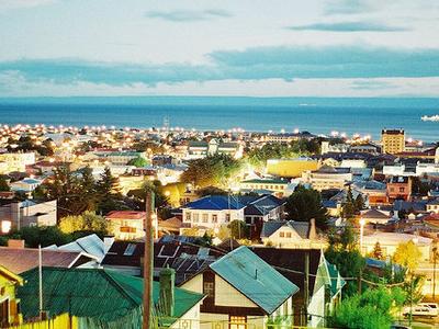 Nighttime Summer View Of Punta Arenas