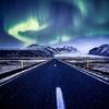 Northern Lights Over Vatnajokull National Park In Iceland