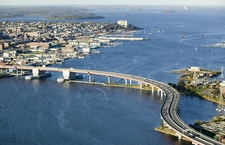Old Port With Casco Bay Bridge - Portland ME