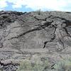 Pahoehoe Lava Flow In The El Malpais National Monument
