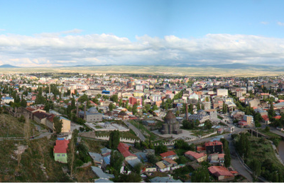 Kars City From The Fortress