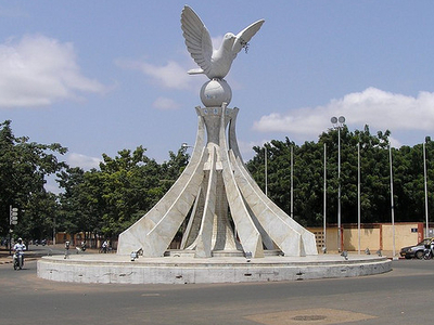 Peace Dove Statue In Lome