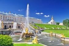 Peterhof Palace Grand Cascade In St. Petersburg