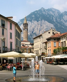 The Centre Of The Town And The San Martino Mountain.