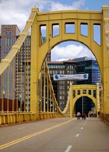 Pittsburgh PA - Roberto Clemente Bridge & PNC Park
