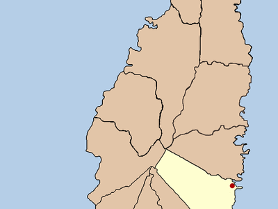 Political Map Of St Lucia Showing Location Of Micoud