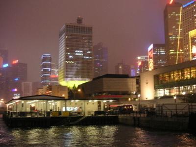 Queens  Pier At Night
