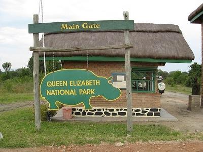 Queen Elizabeth National Park Main Gate UG