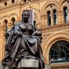 Queen Victoria Statue Outside Building