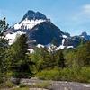 Redrock Falls Trail Views At Glacier - Montana - USA