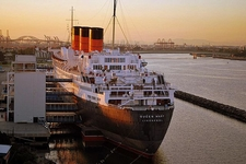 RMS Queen Mary Docked In Long Beach