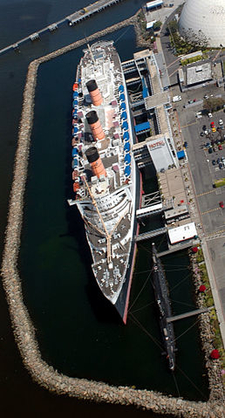 RMS Queen Mary Overhead View