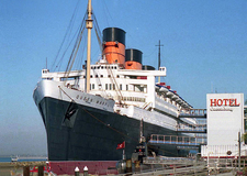 RMS Queen Mary With Permanent Boarding Gangways