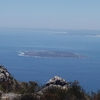 Robben Island As Viewed From Table Moutain