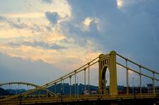Roberto Clemente Bridge At Sunset - Pittsburgh PA