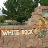 Sign At Entrance To White Rock