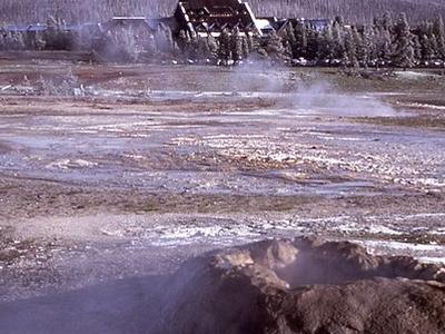 Sponge Geyser - Yellowstone - USA