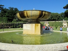 Square Garden Fountain - Vatican
