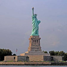 Distance View Of Statue Of Liberty