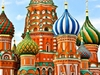 St. Basil's Cathedral In Moscow Red Square