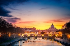 St. Peter's Square In Vatican City - Night View