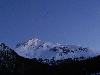 Swiss National Park In Night