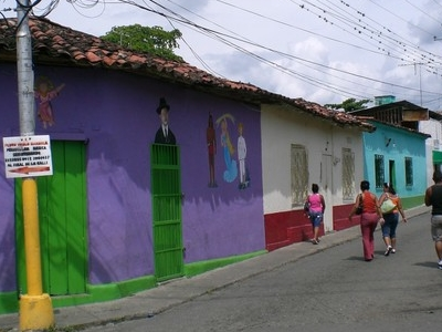 Typical Street Of The Town