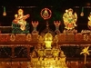 Temple Gopuram In Night Lighting