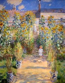 The Artist's Garden At Vétheuil