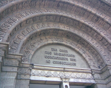 The Tympanum Of The Main Door Of The Basilica