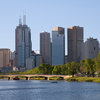 The Yarra River As It Flows North West Towards Central Melbourne