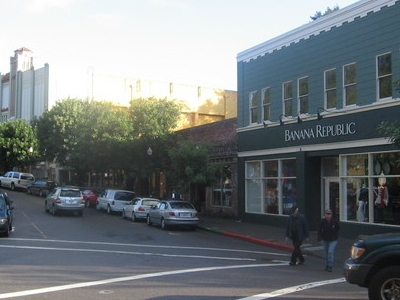 Throckmorton Ave. In Downtown Mill Valley