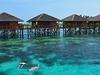 Tourist Accommodation At Mabul Island In Sabah