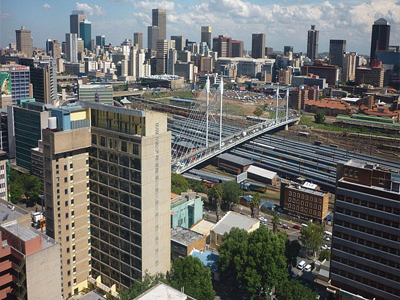 View Of Johannesburg CBD From Braamfontein