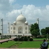 Tourists Relaxing At Taj