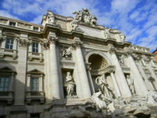 Side View Of The Trevi Fountain