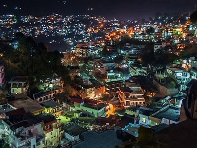 Twinkling Hills Of Solan City At Night